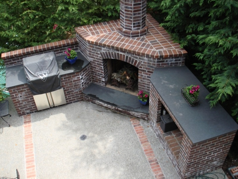 gallery/outdoor fireplace